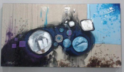 Cuadro Abstracto Turquesa.