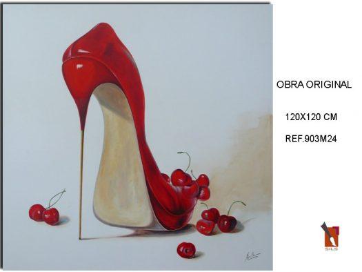 Cuadro Zapato Rojo.