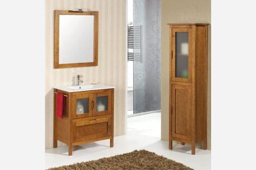 muebles baño madera